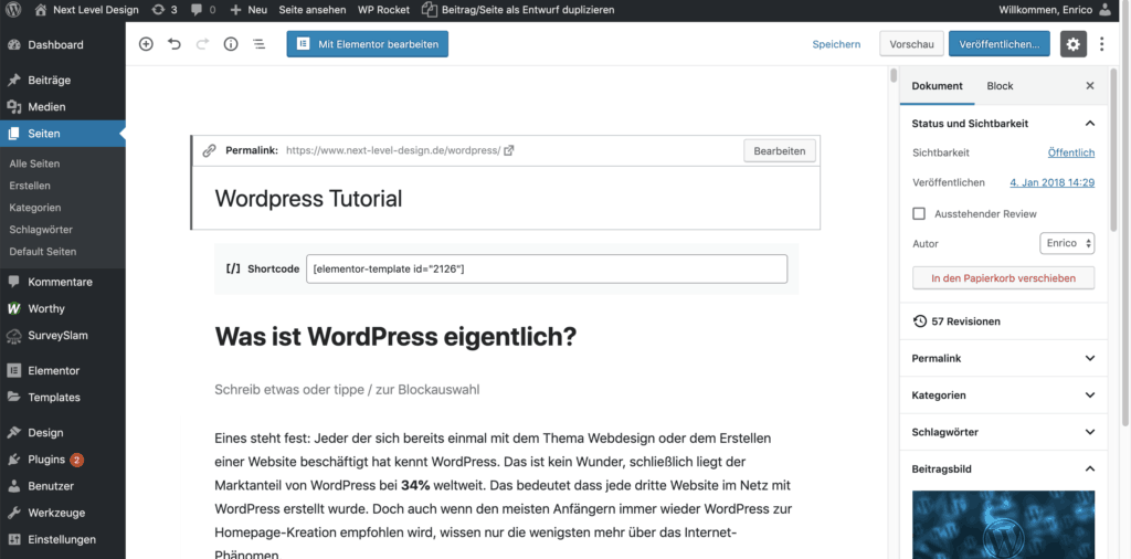 wordpress screenshot nld